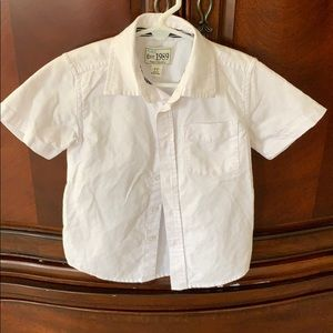 Boys white shirt sleeve button down